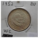 1952 Silver Washington / Carver BU Half Dollar