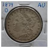 1879-O Morgan AU Silver Dollar