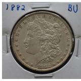 1882 Morgan BU Silver Dollar