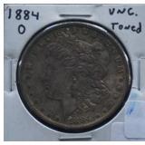 1884-O Morgan Uncirculated Silver Dollar Toned
