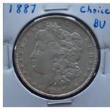 1887 Morgan BU Silver Dollar
