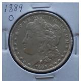 1889-O Morgan AU Silver Dollar