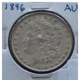1896 Morgan AU Silver Dollar