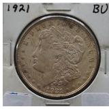 1921 Morgan BU Silver Dollar