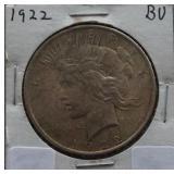 1922 Peace BU Silver Dollar