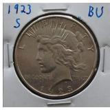 1923-S Peace BU Silver Dollar