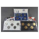 1999 50 State Quarter Proof Gold and Platinum Sets