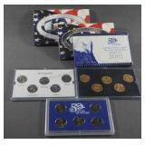 2001 50 State Quarter Proof Gold and Platinum Sets