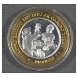 .999 Silver Pioneer $10 Old West Gaming Token