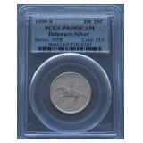 1999-S Delaware Silver Proof Quarter PR69 DCAM