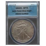 2014-W American Silver Eagle Satin Finish SP70