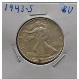 1943-S Walking Liberty BU Half Dollar