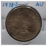 1878-S Morgan AU Silver Dollar