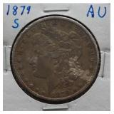 1879-S Morgan AU Silver Dollar