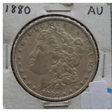 1880 Morgan AU Silver Dollar