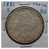 1881-S Morgan BU Silver Dollar