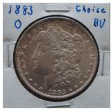 1883-O Morgan BU Silver Dollar