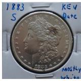 1883-S Morgan AU Silver Dollar