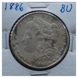 1886 Morgan BU Silver Dollar