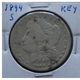 1894-S Morgan Silver Dollar