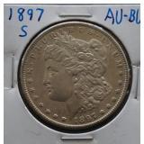1897-S Morgan AU+ Silver Dollar
