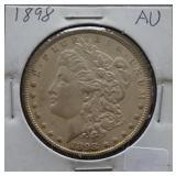1898 Morgan AU Silver Dollar
