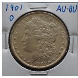 1901-O Morgan AU+ Silver Dollar