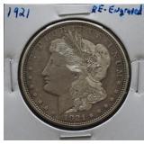 1921 Re-Engraved Morgan Silver Dollar