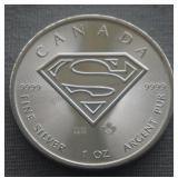 2016 Canada Superman Shield Silver Maple Leaf