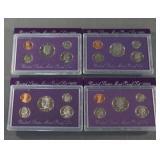 1990 1991 1992 1993 U.S. Mint Proof Coin Sets