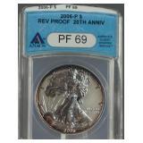 2006-P Silver Eagle Reverse Proof ANACS PF 69