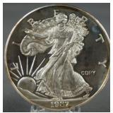 1987 2oz. Silver Walking Liberty Copy