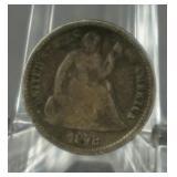 1873 Seated Liberty Silver Half Dime