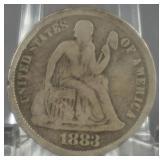 1883 Seated liberty Dime