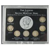 Mercury Silver Dime 7 Coin Legend Set