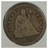 1877-S Seated Liberty Quarter