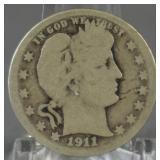 1911-D Barber Quarter