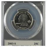 2003-S Arkansas Proof Silver Quarter PCGS PR69DCAM