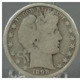 1898 Barber Silver Half Dollar