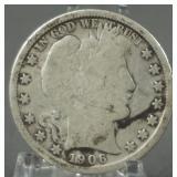 1906-O Barber Silver Half Dollar