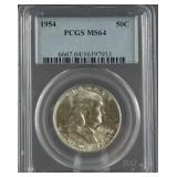 1954 Franklin Half Dollar PCGS MS 64