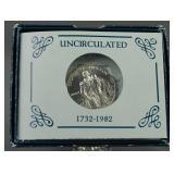 1982-D George Washington Unc. Silver Half Dollar