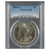 1882-O Morgan Silver Dollar PCGS AU 58