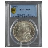 1884-O Morgan Silver Dollar PCGS MS 62