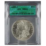 1885-O Morgan Silver Dollar ICG MS 62