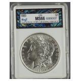 1889 Morgan Silver Dollar NCGS MS 66