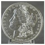 1886-O Morgan AU+ Silver Dollar