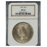 1923 Peace Silver Dollar NGC MS 64