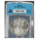 1995 American Silver Eagle ANACS MS 69