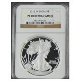 2012-W American Silver Eagle Proof NGC PF 70